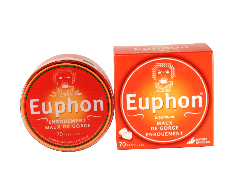Euphon pastilles - Médicament Maux de gorge - Pharmacie