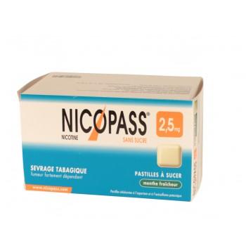 Nicopass 2,5mg x36 Menthe Fraîcheur