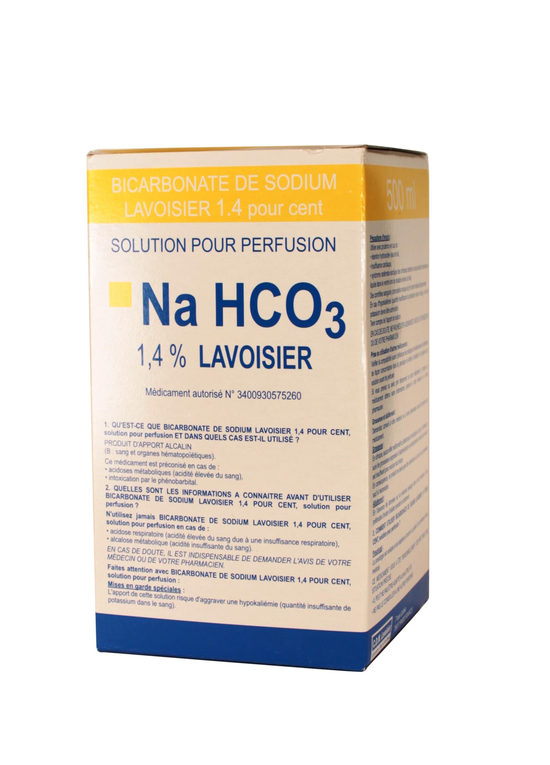 bicarbonate de sodium lavoisier 1 4 500ml pharmacie en. Black Bedroom Furniture Sets. Home Design Ideas