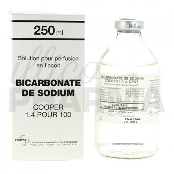 Bicarbonate de sodium Cooper 1,4% 250ml