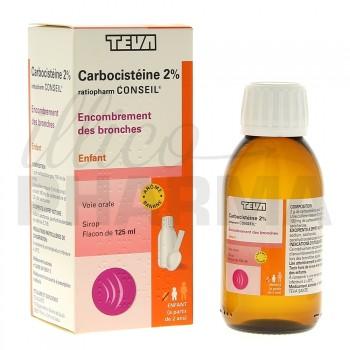Carbocisteine enfant 2% Ratiopharm 125ml