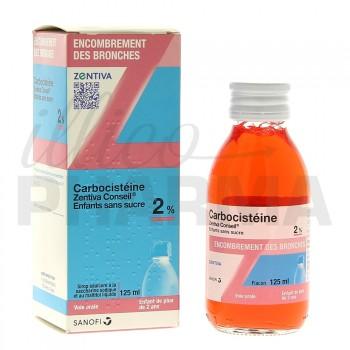 Carbocisteine enfant 2% Zentiva 125ml sans sucre