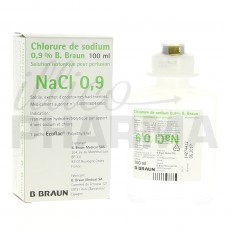 Chlorure de sodium B Braun 0,9%...