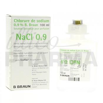Chlorure de sodium B Braun 0,9% 100ml