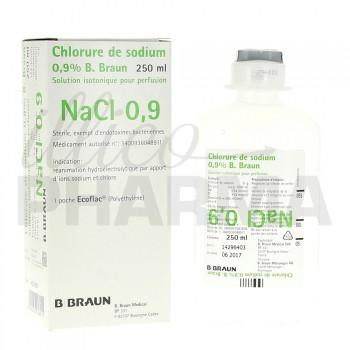 Chlorure de sodium B Braun 0,9% 250ml
