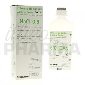 Chlorure de sodium B Braun 0,9% 500ml