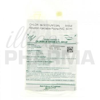 Chlorure de sodium Bioluz 0,9% 50ml