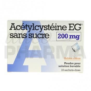 Acetylcysteine EG sans sucre 200mg 18sachets