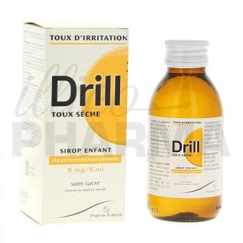 Drill 5mg/5ml Sirop sans sucre enfant 125ml, Toux sèche, e