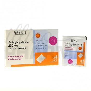 Acetylcysteine Ratiopharm 200mg 20Sachets