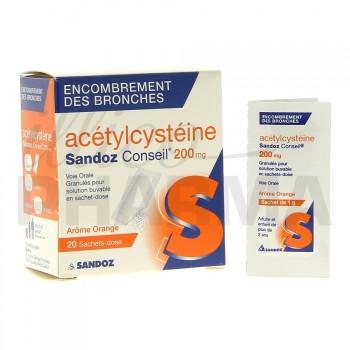 Acetylcysteine Sandoz 200mg 20Sachets