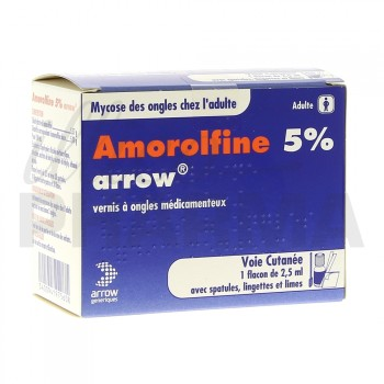 Amorolfine Arrow 5% vernis 1fl/2,5ml