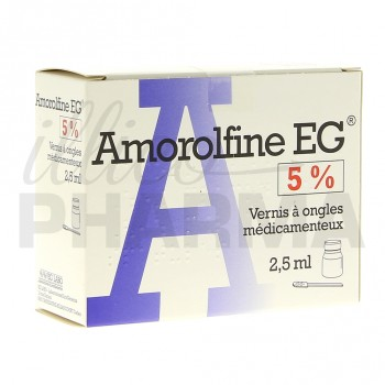 Amorolfine EG 5% vernis 1fl/2,5ml+10 spatules