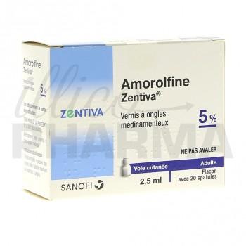 Amorolfine Zentiva 5% vernis 1fl/2,5ml+20 spatules