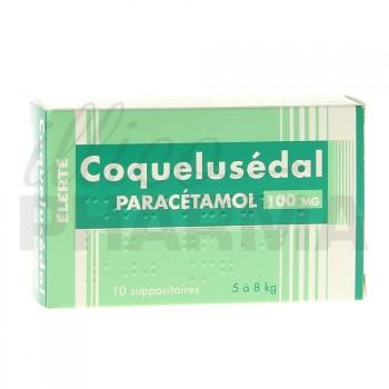 Coquelusedal Paracétamol 100mg 10suppositoires