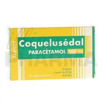 Coquelusedal Paracétamol 500mg 10suppositoires