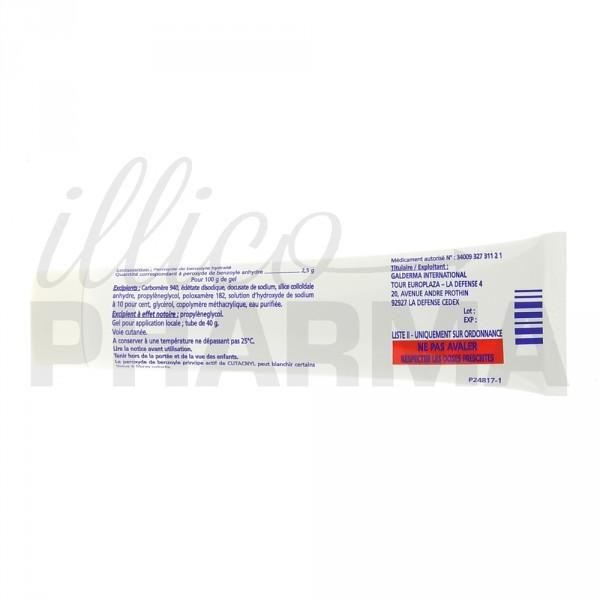 Cutacnyl 2,5% Gel 40g, Acné, Pharmacie française en ligne
