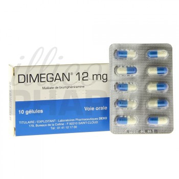 Dimegan 12mg 10gélules