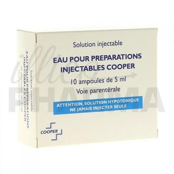 Eau pour préparations injectables Cooper 10Amp/5ml