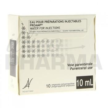 Eau pour préparations injectables Proamp 10Amp/10ml
