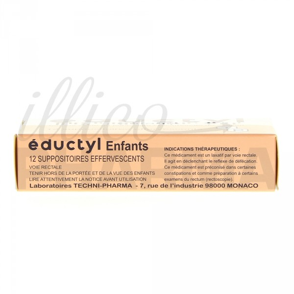 Eductyl suppositoire enfant x12, Constipation, e-Pharmacie