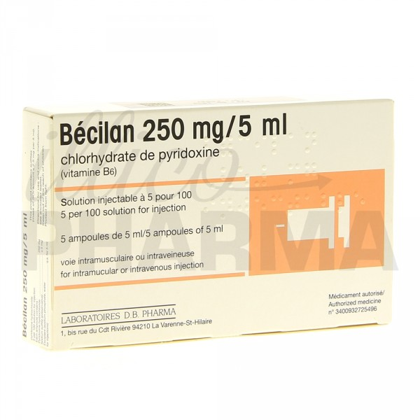 becilan 250mg 5ml ampoules carence pharmacie en ligne illicopharma. Black Bedroom Furniture Sets. Home Design Ideas