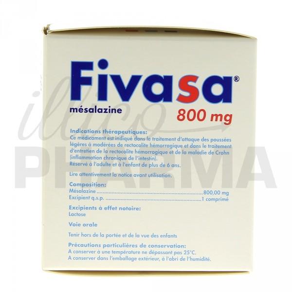 Fivasa 800mg 90cpr, Appareil digestif, Pharmacie en ligne