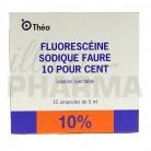 Fluoresceine sodique Faure 10%...