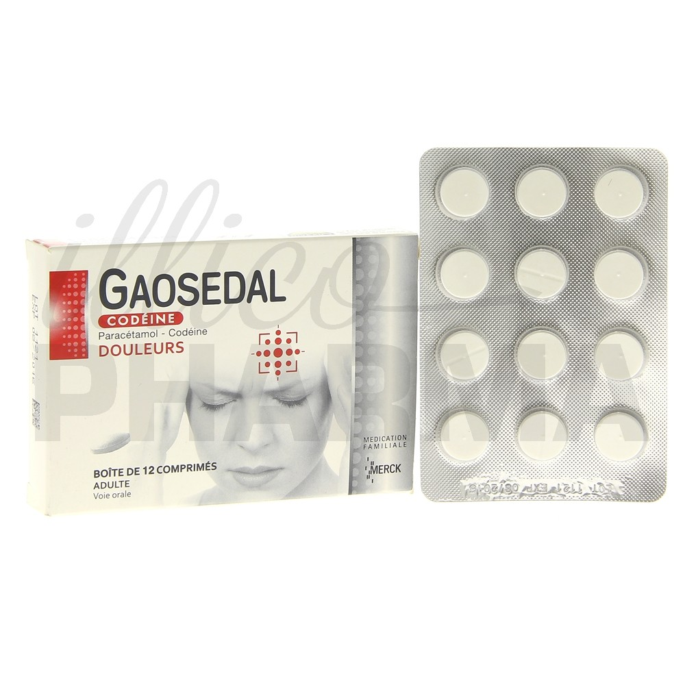 Gaosedal Codeine x12cpr, Association, Pharmacie en ligne