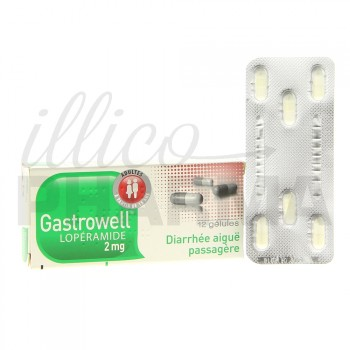 Gastrowell Loperamide 2mg 12gélules