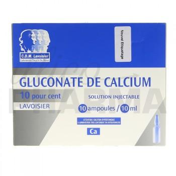 Gluconate de calcium Lavoisier 10% 10Amp/10ml