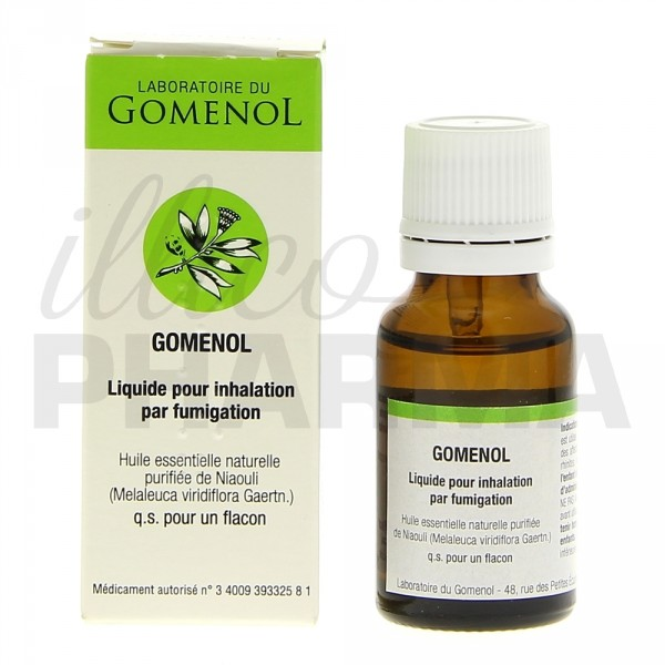 gomenol liquide pour inhalation par fumigation rhume e pharmacie illicopharma. Black Bedroom Furniture Sets. Home Design Ideas