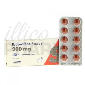 Ibuprofène Sandoz 200mg 30cpr