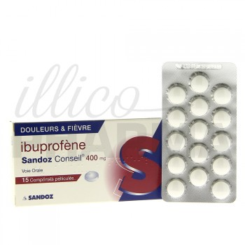 Ibuprofène Sandoz 400mg 15cpr
