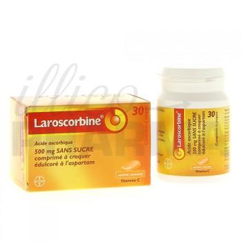 Laroscorbine 500mg sans sucre 30 cpr