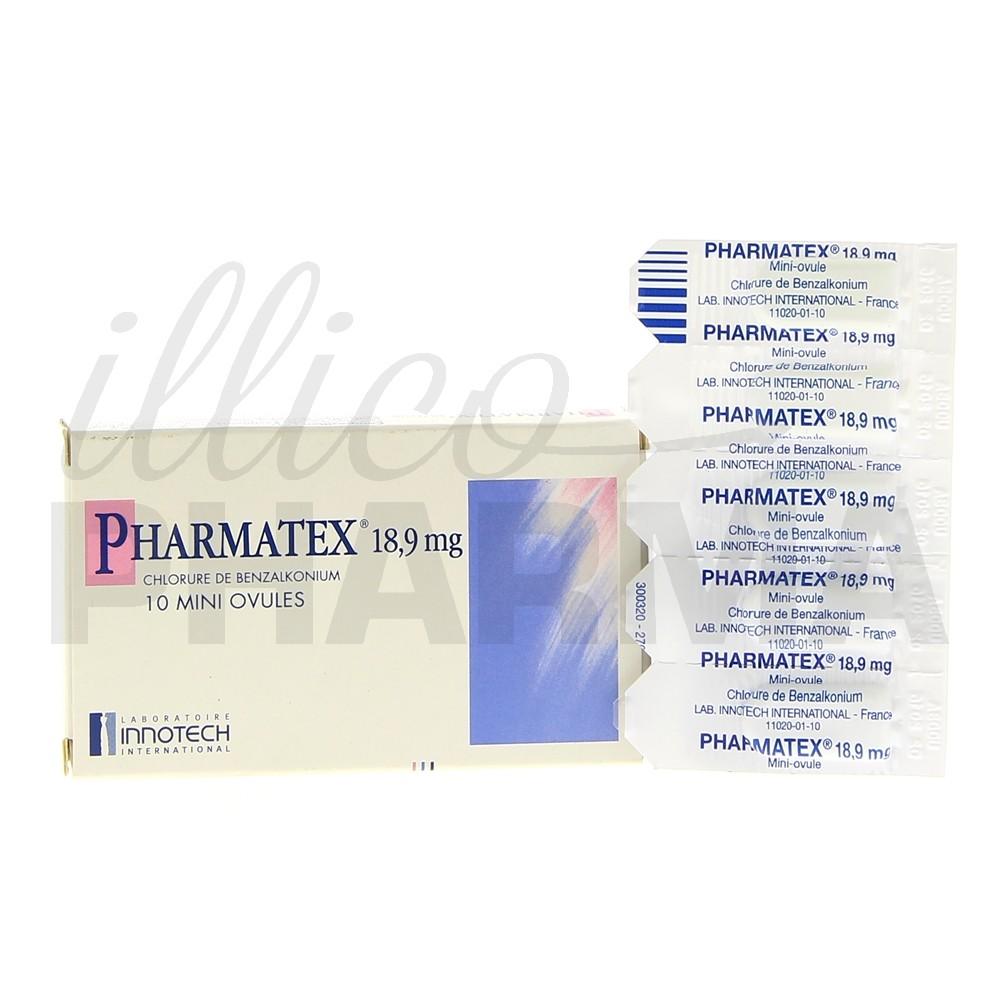 Mini ovule Pharmatex x10, Contraception, Pharmacie en
