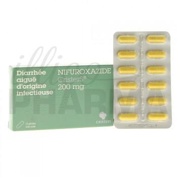 Nifuroxazide Cristers 200mg 12 gélules