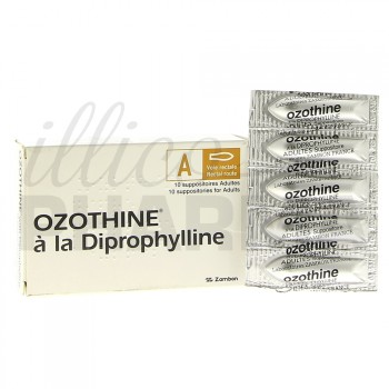 Ozothine diprophylline Suppositoire adulte x10-Affections