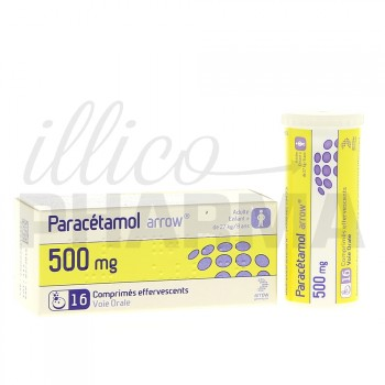 Paracétamol Arrow 500mg 16cpr eff