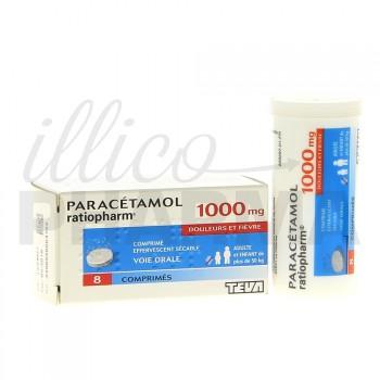 Paracétamol Ratiopharm 1g 8cpr eff