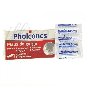 Pholcones Bismuth suppositoire adulte x8