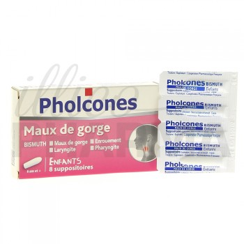 Pholcones Bismuth suppositoire enfant x8