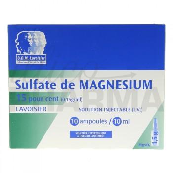 Sulfate de magnesium Lavoisier 15% 10Amp/10ml