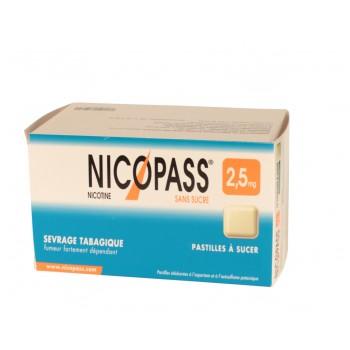 Nicopass 2,5 mg x12 Réglisse-Menthe