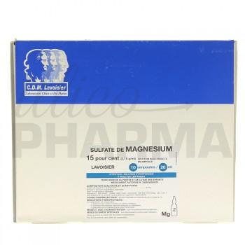 Sulfate de magnesium Lavoisier 15% 10Amp/20ml