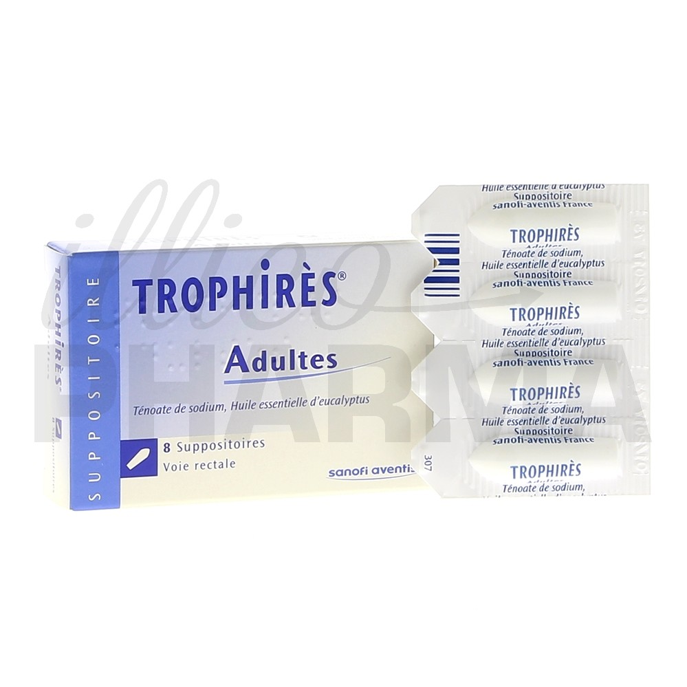 Trophires suppositoire adulte x8, Affections bronchiques