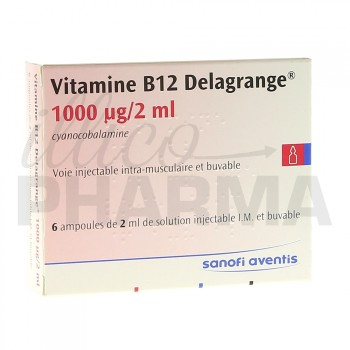 Vitamine b12 Delagrange 1000µg/2ml 6Amp/2ml