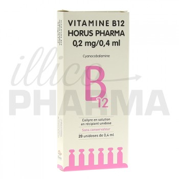 Vitamine b12 Horus Pharma 0,2mg/0,4ml Collyre 20unid/0,4ml