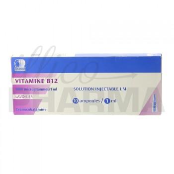 Vitamine b12 Lavoisier 1000µg 10Amp/1ml