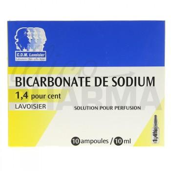 Bicarbonate de sodium Lavoisier 1,4% Ampoules